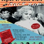 Show flyer for the Sock Hop