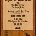 Show flyer: the Bluegrass Show